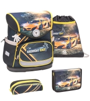 Belmil Compact Schulranzen Set 4-tlg. - MIDNIGHT RACE
