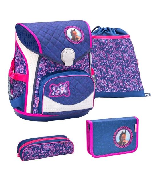 Belmil Cool Bag Schulranzen Set 4-tlg. - BLUE RIDING HORSE