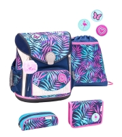 Belmil Cool Bag Schulranzen Set 4-tlg. - COLORFUL TROPICAL