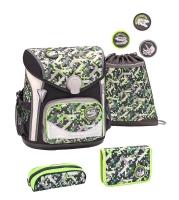 Belmil Cool Bag Schulranzen Set 4-tlg. - DINOSAURS NEON