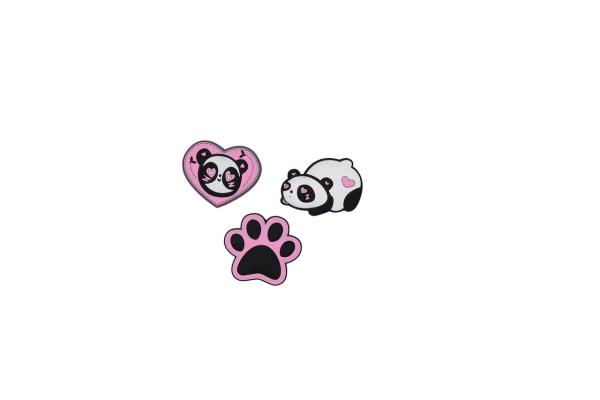 DerDieDas Wechselbuttons - PINK PANDA