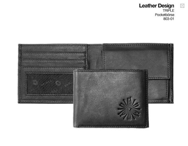 Oxmox Pocketbörse Leder - TRIPLE