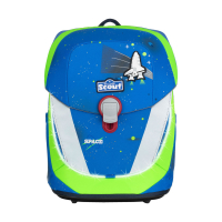 Scout Schulranzen Sunny II Safety Light - BLUE SPACE - Set 5-tlg.