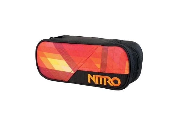 Nitro Etui Pencil Case - PLAID RED-BLUE