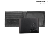 Oxmox Pocketbörse Leder - CUBES
