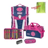 Scout Schulranzen Sunny Safety Light - PINK MANDALA - Set...