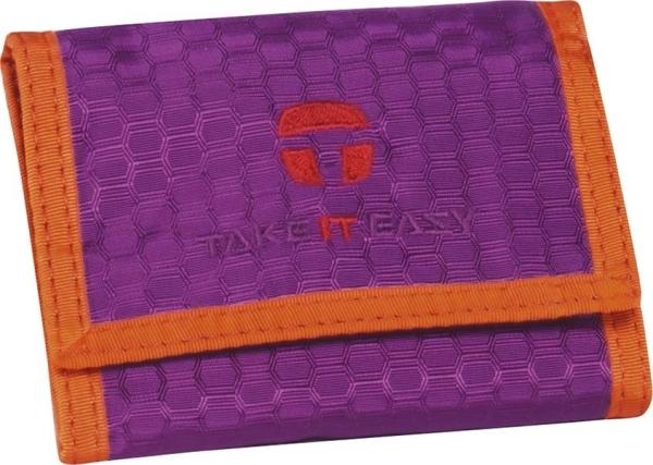 Take it Easy Börse - 488 - LIGHT NYLON lila/orange