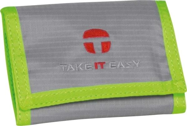 Take it Easy Börse - 488 - LIGHT NYLON silber/türkis