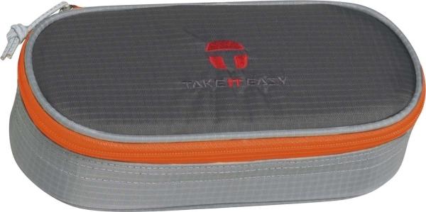Take it Easy Etui Box XL - 488 - LIGHT NYLON grau/orange
