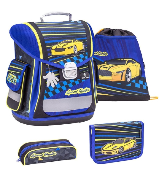 Belmil Sporty Schulranzen Set 4-tlg. - SPEED HUNTER