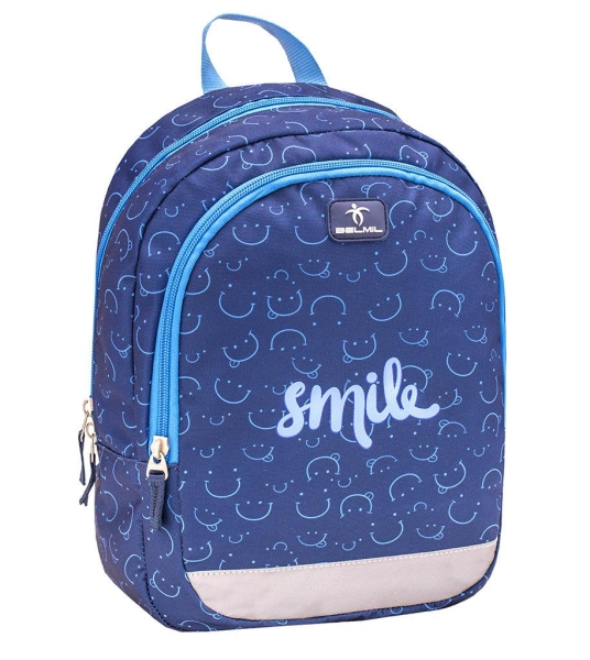 Belmil Kindergarten Rucksack Kiddy - BLUE SMILE