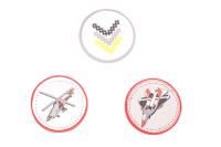 Belmil Patches Set 3-tlg. - AVIATION