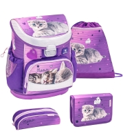 Belmil Mini Fit Schulranzen Set 4-tlg. - LITTLE CATY