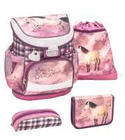 Belmil Mini Fit Schulranzen Set 4-tlg. - HORSE CHAMPION