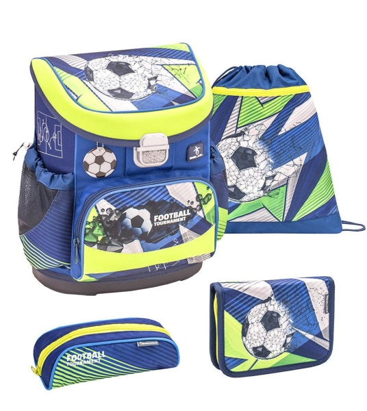 Belmil Mini Fit Schulranzen Set 4-tlg. - FOOTBALL TOURNAMENT