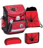 Belmil Mini Fit Schulranzen Set 4-tlg. - SPIDERS RED AND BLACK