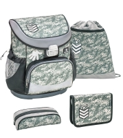 Belmil Mini Fit Schulranzen Set 4-tlg. - CAMOUFLAGE GREY
