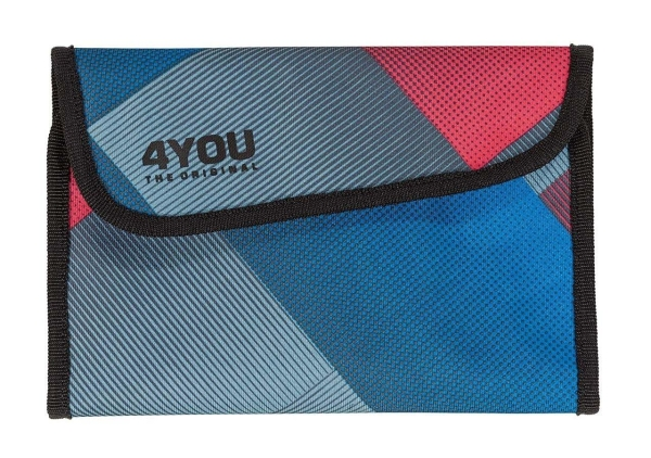 4You Soft Pencilcase - 648 - RED BLUE SQUARED
