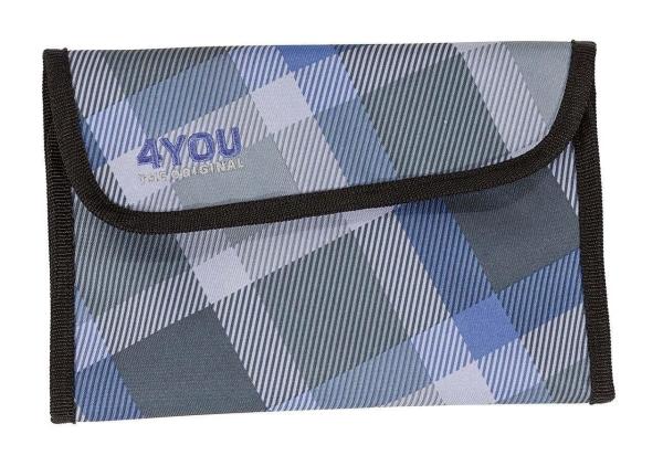 4You Soft Pencilcase - 649 - CHECKER GREY/VIOLET