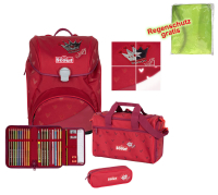 Scout Schulranzen Alpha Premium - RED PRINCESS - Set 5-tlg.