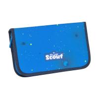 Scout Schulranzen Alpha Safety Light - BLUE SPACE - Set 5-tlg.