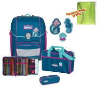 Scout Schulranzen Genius - MERMAID - Set 5-tlg.