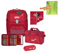 Scout Schulranzen Genius Premium - RED PRINCESS - Set 5-tlg.