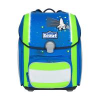 Scout Schulranzen Genius Safety Light - BLUE SPACE - Set 5-tlg.