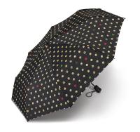 Regenschirm Mini AC Emoticon - BLACK ALLOVER