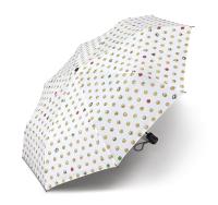 Regenschirm Mini AC Emoticon - WHITE ALLOVER