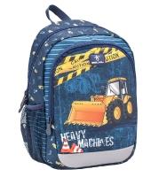 Belmil Kindergarten Rucksack Kiddy Plus - HEAVY MACHINERY