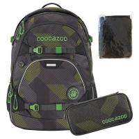 Coocazoo Rucksack Set 3-tlg. ScaleRale - POLYGON BRICKS GREY