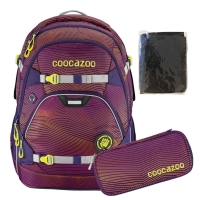 Coocazoo Rucksack Set 3-tlg. ScaleRale - SONICLIGHTS PURPLE