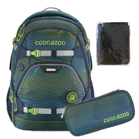 Coocazoo Rucksack Set 3-tlg. ScaleRale - SONICLIGHTS GREEN