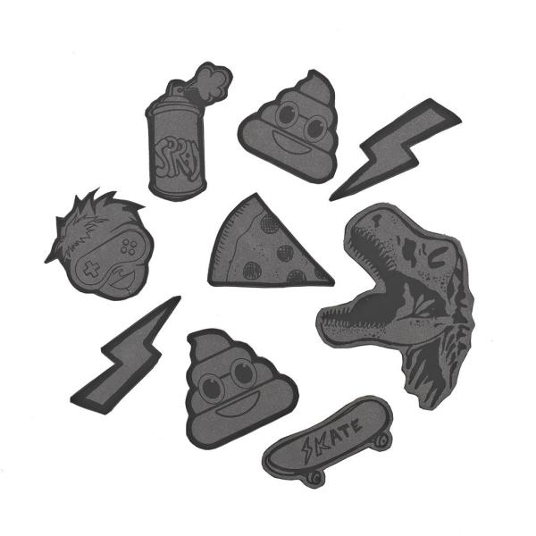 Coocazoo Reflektierendes Sticker-Set StickyRicky - BLACK