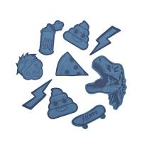 Coocazoo Reflektierendes Sticker-Set StickyRicky - BLUE