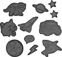 Step by Step Reflektierendes Sticker-Set - BLACK