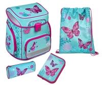Scooli EasyFit Schulranzen-Set, 5-teilig Butterfly