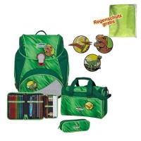 Scout Schulranzen Alpha - GREEN REX - Set 5-tlg.