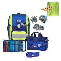 Scout Schulranzen Genius - BLUE POLICE - Set 5-tlg.