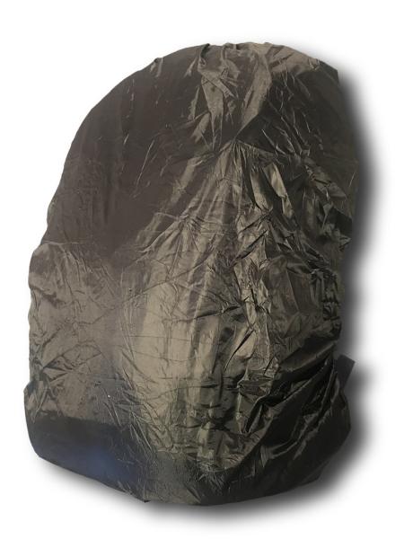 Regenhülle - schwarz-silber